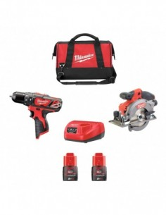 Milwaukee Kit 12V MWK122DD2...